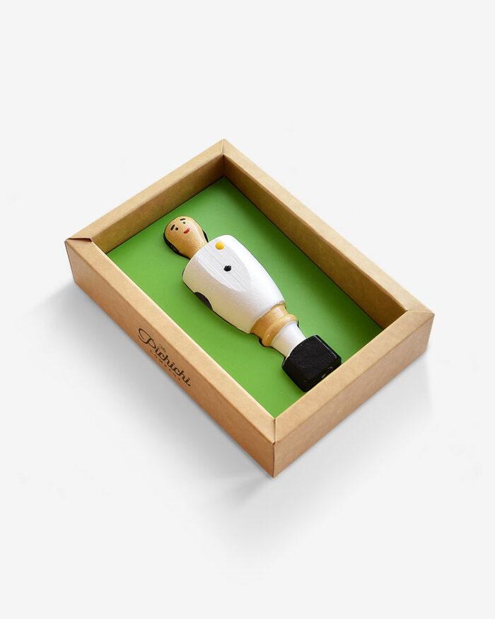 Jugador futbolín Madrid packaging