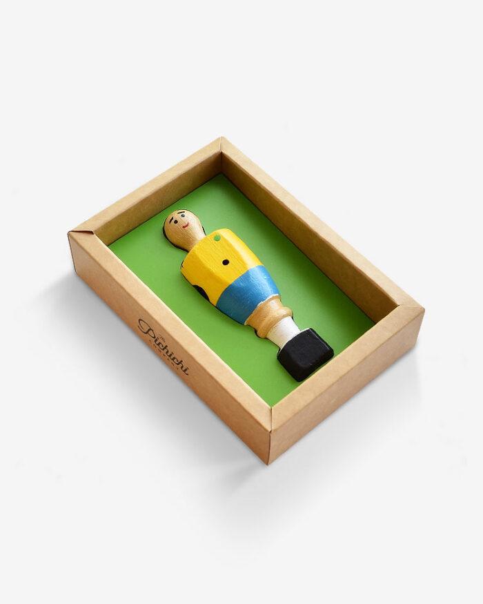 Figura futbolín Brasil packaging