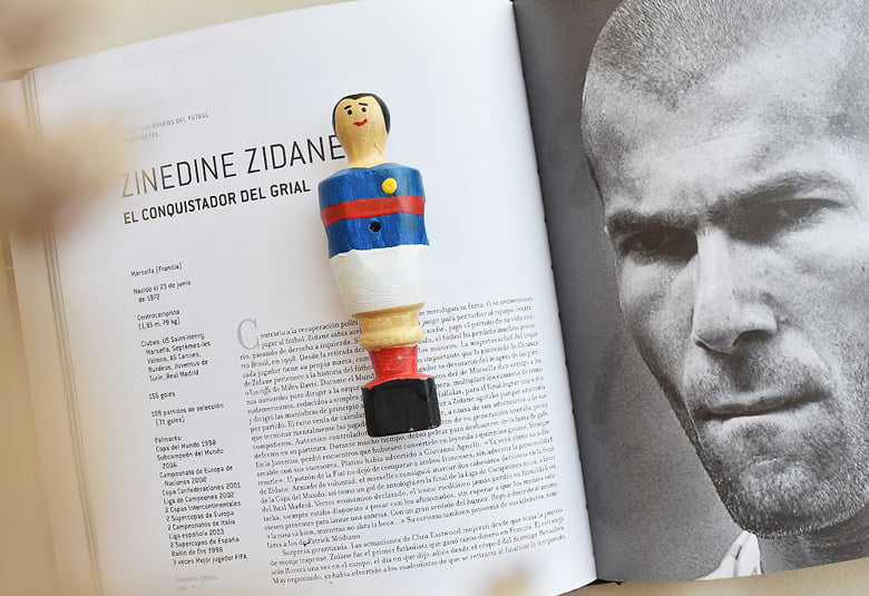 Muñeco de futbolín de Zidane